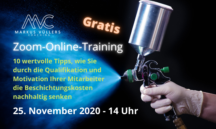 Zoom-Online-Training <br>Beschichtungskosten senken