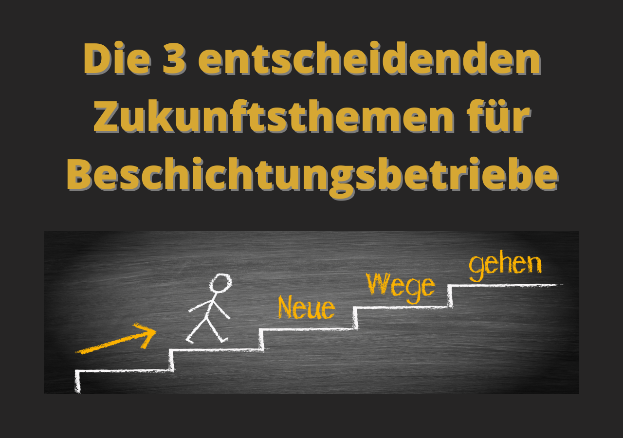 3 Zukunftsthemen <br> für Beschichtungsbetriebe